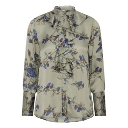 A KARMAMIA Stella Shirt - Blue Iris