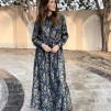 KARMAMIA Nakita Maxi Dress - Indigo Provence