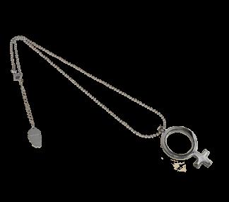 IOAKU Silver FEMALE SIGN NECKLACE
