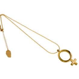 IOAKU Gold FEMALE SIGN NECKLACE
