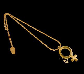 IOAKU Gold FEMALE SIGN NECKLACE