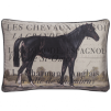 ADAMSBRO Cushion Les Chevaux 60x40