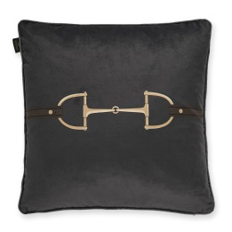 ADAMSBRO Velvet Snaffle Bit Cushion Grey
