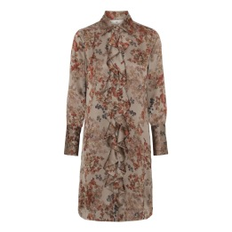 A KARMAMIA Ruffle Kimono (short) - Melange Taupe