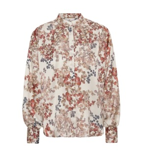 A KARMAMIA Cornelia Shirt - Melange Ivory
