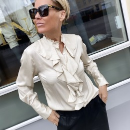 A KARMAMIA Stella Shirt - Porcelain