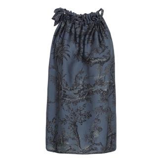 A KARMAMIA Blue Palma Ruffle Tie Top