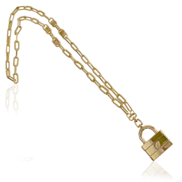A IOAKU MASSIVE LOCK NECKLACE GOLD