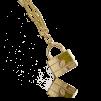 A IOAKU MASSIVE LOCK NECKLACE GOLD