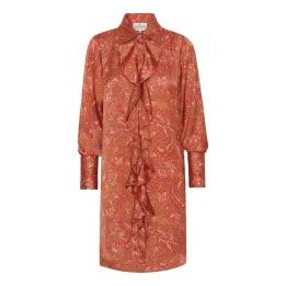 KARMAMIA Ruffle Kimono (short) - Pink Paisley