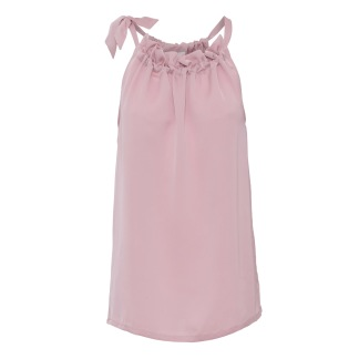 A KARMAMIA Ballet Pink Ruffle Tie Top