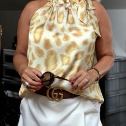 A KARMAMIA Amber Leo Ruffle Tie Top