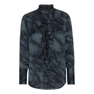 KARMAMIA Stella Shirt - Blue Camouflage