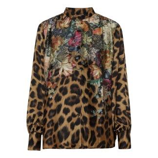 KARMAMIA Cornelia Shirt - Flower Leopard
