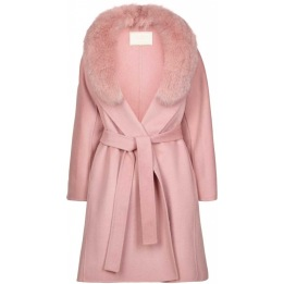 NATURES COLLECTION Valerie Jacket of Wool Blend/Fox PINK