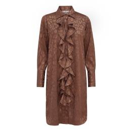 A KARMAMIA Ruffle Kimono (short) - Bronze Leo Jacquard