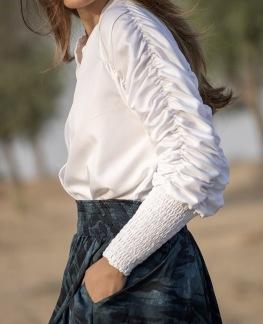 A KARMAMIA Morgan Shirt – White Cotton