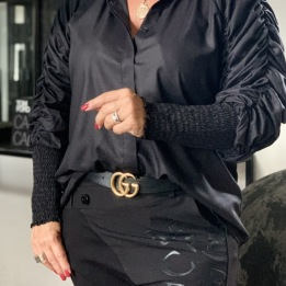 A KARMAMIA Morgan Shirt – Black Cotton