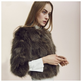 NATURES COLLECTION Bella (Jacket of Raccoon belly)