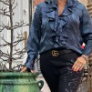 A KARMAMIA Stella Shirt - Blue Camouflage