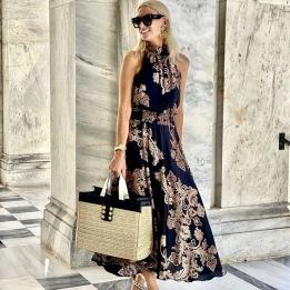 A KARMAMIA Savannah Skirt – Pearson Paisley Blush