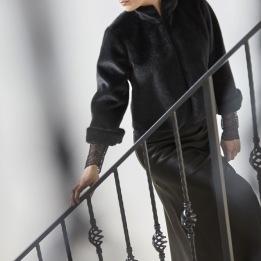 COSTA MANI Fake fur short jacket