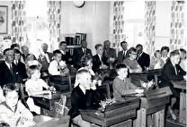 Sista examen i folkskolan 1965