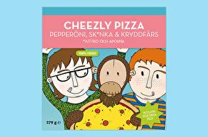 Cheezly Pizza Pepperöni, Sk*nka & Kryddfärs Vegan