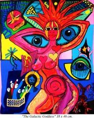 "Freja`s Art Work ""The Galactic Goddess"" owned by European Art Museum"
