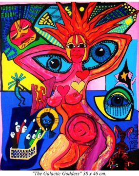 """Art Work by FREJA ENJOY """"The Galactic Goddess"""" it is owned by The EUROPEAN ART MUSEUM."""