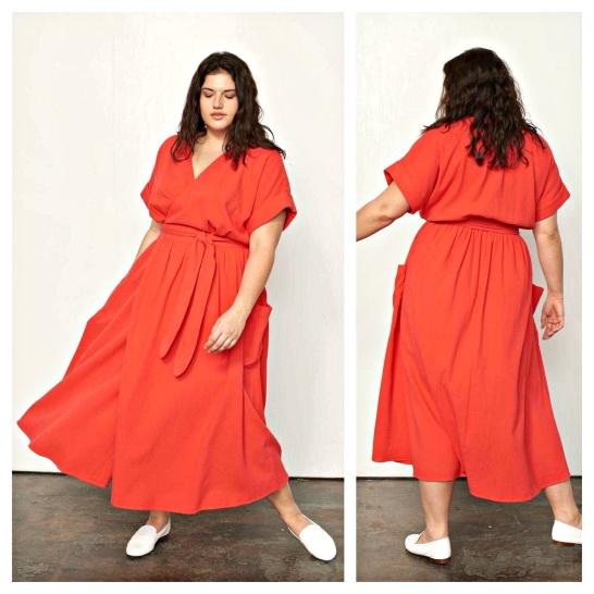 d4e579a46d5d En preppy långklänning i jaquardvävd ekologisk bomull från MARA HOFFMAN  -som har börjat tillverka några