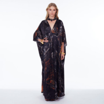 Cass Kaftan Black Obsidian Long.