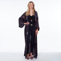 Janis Kimono Black Obsidian Long.