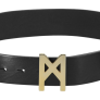 MÄRTA LARSSON | Signature Belt Gold / Black