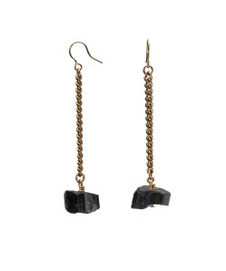 MÄRTA LARSSON | Keep Me Hanging Black Tourmaline Earrings