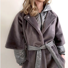 SKAU | Martio grey wool/acrylic coat