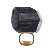 MÄRTA LARSSON | Art Ring Black Tourmaline
