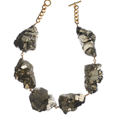 MÄRTA LARSSON | Not a Pearl Necklace XXL Art Edition Pyrite Crystal
