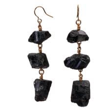MÄRTA LARSSON | XXX Black Tourmaline Earrings