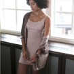 MILOOK | Hilda slipdress - Powder Pink XLarge