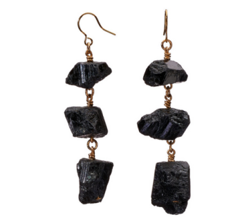 MÄRTA LARSSON | XXX Black Tourmaline Earrings -