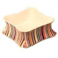 Matskål randig i keramik