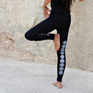 Yogaleggings Malva från Santa Ni - Svart - Yogaleggings Strl XL