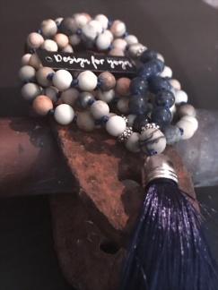 Mala Blue - Mala Blue med blå silkestofs