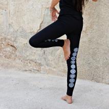 Yogaleggings Malva från Santa Ni - Svart