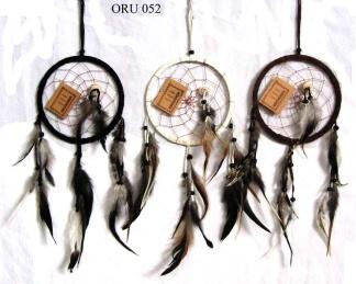 Drömfångare - Svart drömfångare 14 cm