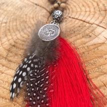 Mala RED Gypsy feather
