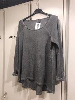 Grå snygg tröja - Grå bomullströja