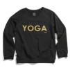 YOGA Sweater Svart Guld text