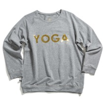 YOGA Sweater Grå Guld text